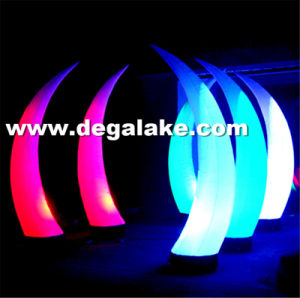 LED Lighting Inflatable Decoration Corn Inflatable Tusk for Event pictures & photos