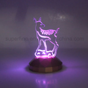 Popular Christmas Gift or Party Supply Color Changing LED Acrylic Figure Light pictures & photos