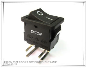 China Rocker Switch Supplier Excon Ss21 Series Switch with Bending Terminal on-off Switch pictures & photos