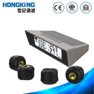 Solar TPMS for 4 Wheels Commercial Vehicle and Car with External Wireless Tire Sensor pictures & photos