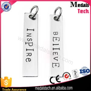 Alloy Ball Chain Metal Pendant Custom Shape Letter Dog Tags pictures & photos