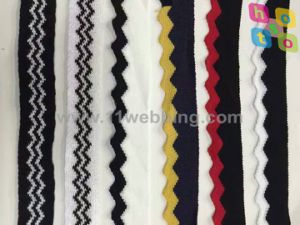 Colored Waved Polyester Webbing Suit to Garment Accessories pictures & photos