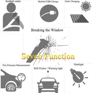 Solar Multi-Function Emergency Car Tools Torch pictures & photos