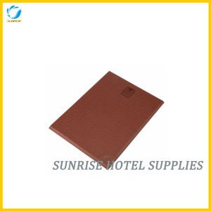 Hotel Brown Leather Notepad Holder pictures & photos