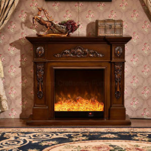 Simple European sculpture 3D Effects Heating Electrical Fireplace (322S) pictures & photos