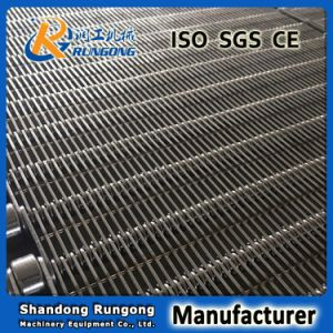 Non-Pollution Stainless Steel Eye Link Metal Conveyor Wire Mesh Belt for Snack Foods pictures & photos
