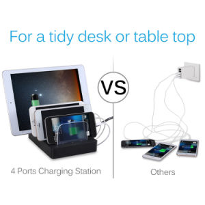 4ports Mobile Phone USB Charging Station for iPhone 7/7plus/iPad Air pictures & photos