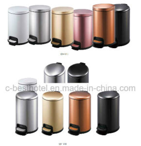 2017 Newly Design Colorful Plastic Hotel Trash Can Indoor Waste Bin pictures & photos