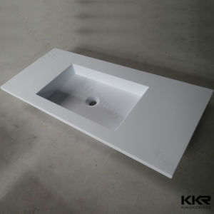 Rectangle Shape Solid Surface Resin Bathroom Vanity Basin pictures & photos