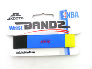 Woven Logo Heat Transfer Elastic Wristband pictures & photos
