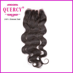 Three Part Brazilian Human Hair Top Closure, Lace Closure pictures & photos