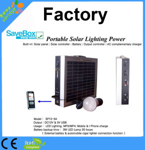 Portable Solar Lighting Power / Mini Solar Power System (SP12-5)) pictures & photos