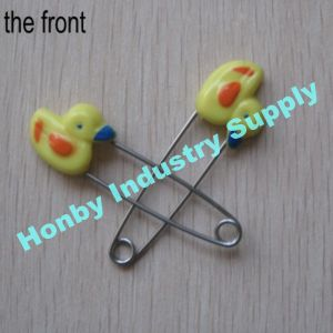 2016 New Arrival 55mm Plastic Duck Head Baby Diaper Safety Pins pictures & photos
