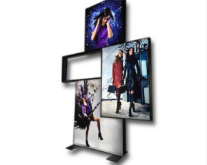 Fabric Lightbox Frame Expo Display Banner Stand (GC-DB) pictures & photos