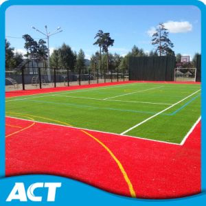 Olive Green Synthetic Turf for Tennis Court Fire Resistance pictures & photos