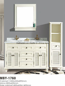 "31"" Single Sink Wooden Bathroom Vanity Set in White pictures & photos"