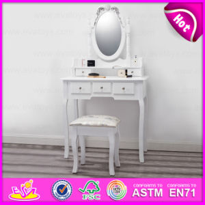 High Performance Wooden Dressing Table in White Antique French Design W08h016 pictures & photos