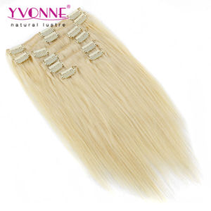 Color #613 Brazilian Straight Clip in Human Hair Extension pictures & photos