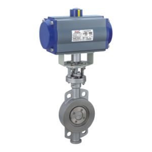 Pneumatic Actuator Butterfly Valve with Metal Seal (wafer type) pictures & photos