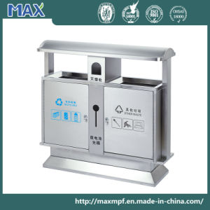 Outdoor Stainless Steel Two Way Opening Trash Can pictures & photos