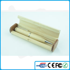 2016 China Wooden Pen Shape USB Memory with Customized Logo