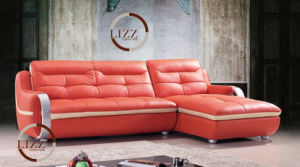 Living Room L Shape Genuine Leather Sofa L. 328-Og pictures & photos