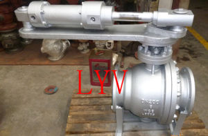Pneumatic Reducing Bore Flanged Ball Valve pictures & photos