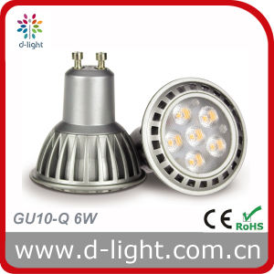 LED Bulb GU10 Aluminum Body 6W 230V 420lm pictures & photos