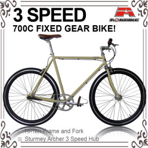 700c Inner 3 Speed Fixed Gear Bicycle (ADS-7101) pictures & photos