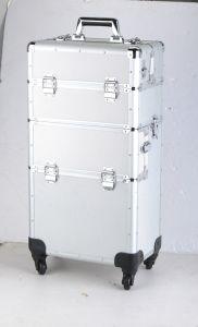 High Quality Aluminum Transparent Cosmetic Case pictures & photos