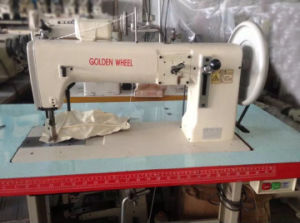 Used Goldenwheel Single Needle Compound Feed Flatbed Sewing Machine (CS-243) pictures & photos