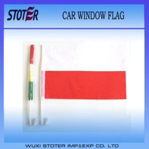 High Quality Car Flag with Plastic Pole pictures & photos