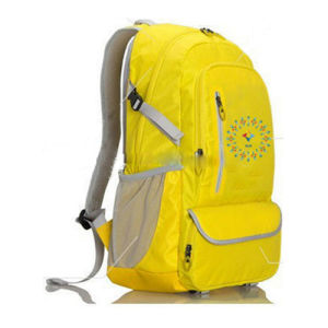 Yellow Polyester Book Bag School Bag Backpack for Teenagers pictures & photos
