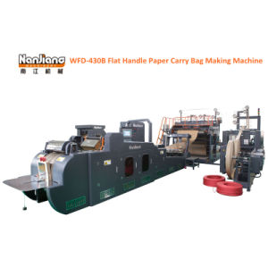 Flat Handle Paper Shopping Bag Making Machine (WFD-430B) pictures & photos