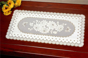 PVC Vinyl Lace Silver Doilies/Doilies with Silver Lace pictures & photos