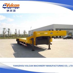 High Quality 3 Axles Hydraulic Tipper Flatbed Draw Bar Trailer