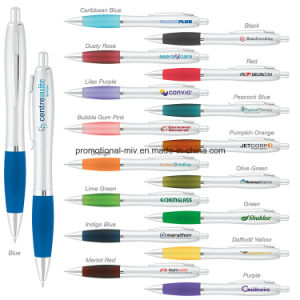 Promotional Pens Silver Plastic Ballpoint for Promotion pictures & photos