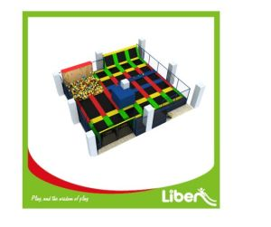 High Quality Amusement Indoor Trampoline Park with Basketball Hoop and Foam pictures & photos