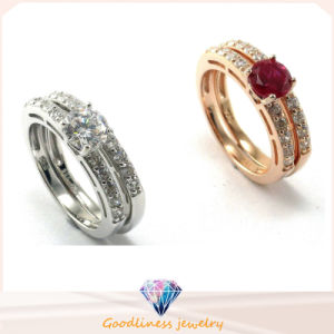 Fashion Jewelry New CZ Stone 925 Sterling Silver Wedding Engagement Ring (R10210) pictures & photos