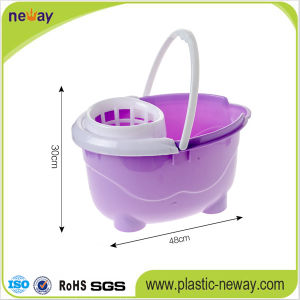 Squeeze Plastic Mop Bucket with Wringer pictures & photos