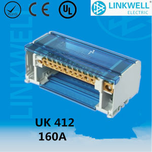 Small Size 160A Safe UL Plastic Brass Conductor Electronic Terminal Block Price (UK412) pictures & photos