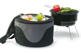 Sample Free Camping Mini BBQ Grill with Cooler Bag pictures & photos