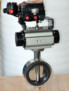 3A Sanitary Threaded Butterfly Valve pictures & photos