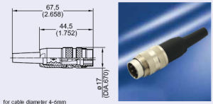 M16 Male Cable Side Connector pictures & photos