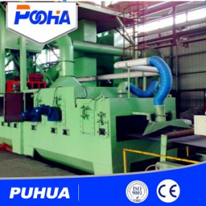 Roller Conveyor Wheel Blasting Machine for H Beam Rust Removal pictures & photos