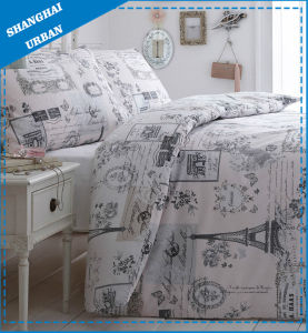 Pari Eiffel Cotton Print Duvet Cover (Set) pictures & photos