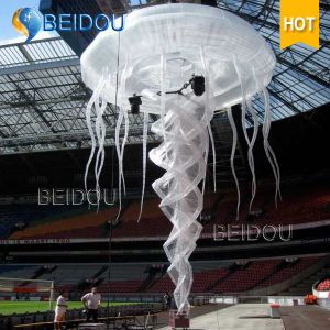 Event Stage Wedding Party Decoration RC Lighted LED Inflatable Jellyfish
