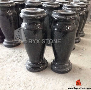 Black Granite Flower Vase for Cemetery pictures & photos