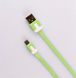 100cm Flat Micro USB/USB 2.0 Cable for Smartphones (LCCB-064) pictures & photos