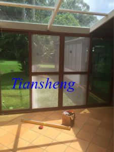 Aluminum Sliding Door with Mosquito Net for Commercial and Residential pictures & photos